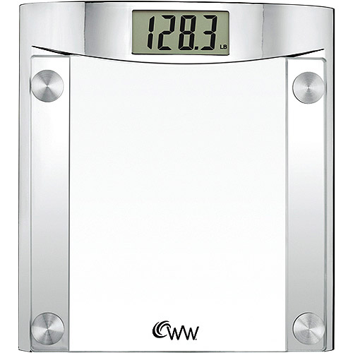 weight watchers chrome and glass digital bath scale - walmart