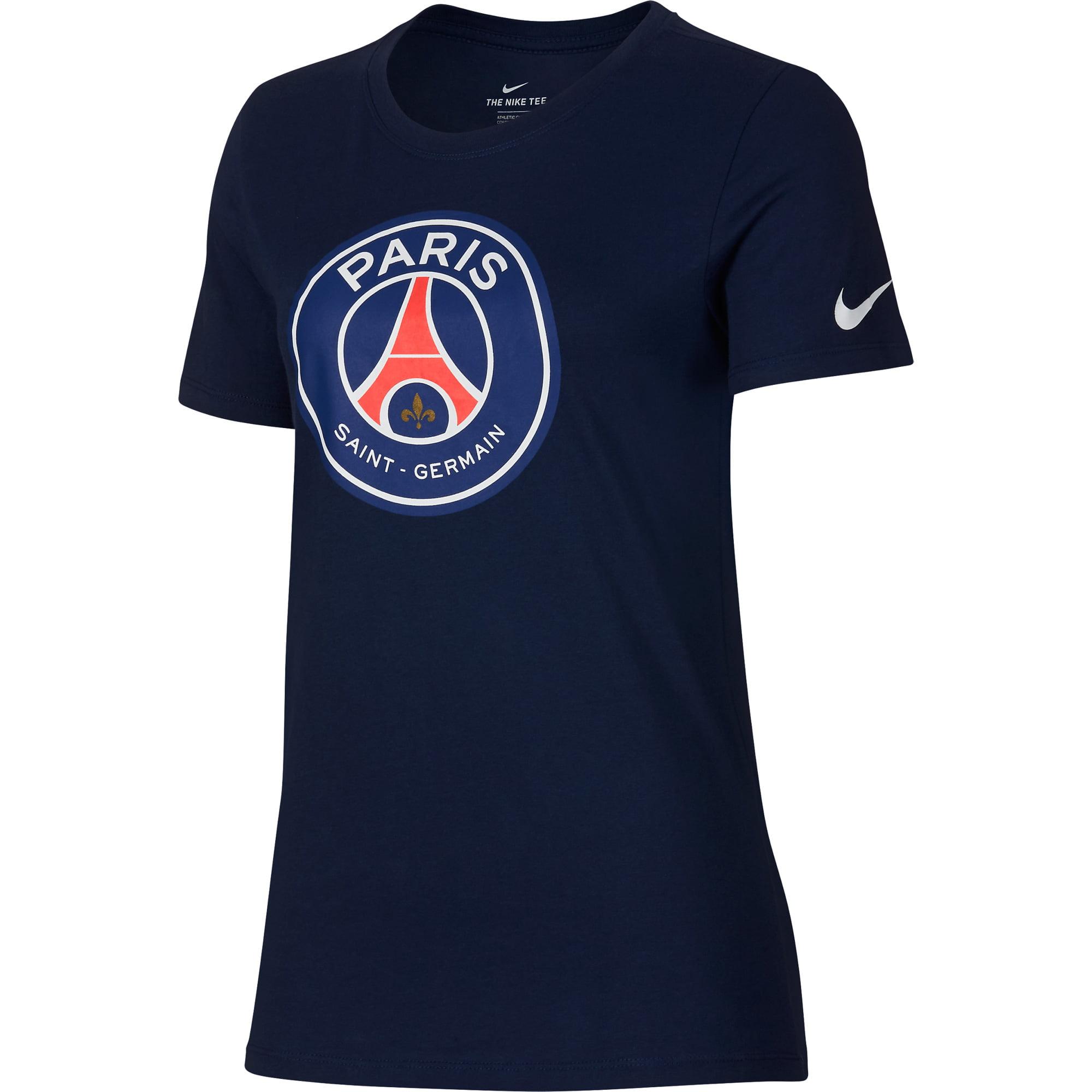 Nike - Paris Saint-Germain Nike Women s Evergreen Crest T-Shirt - Navy -  Walmart.com 919d2219f