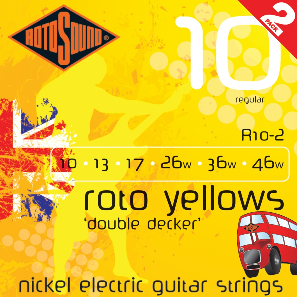Rotosound Roto Yellows Double Deckers 2-Pack by Rotosound