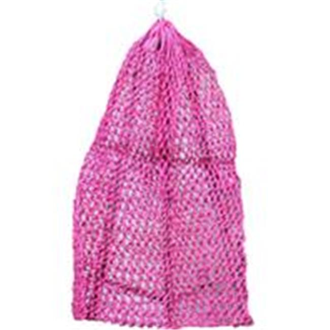 Partrade P-Ultra Slow Feeder Hay Net- Raspberry 40 Inch