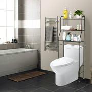3 Shelf Bathroom Space Saver Over The Toilet Rack Bathroom Corner Stand Storage Organizer Accessories Bathroom Cabinet Tower Shelf with ORB Finish-Black