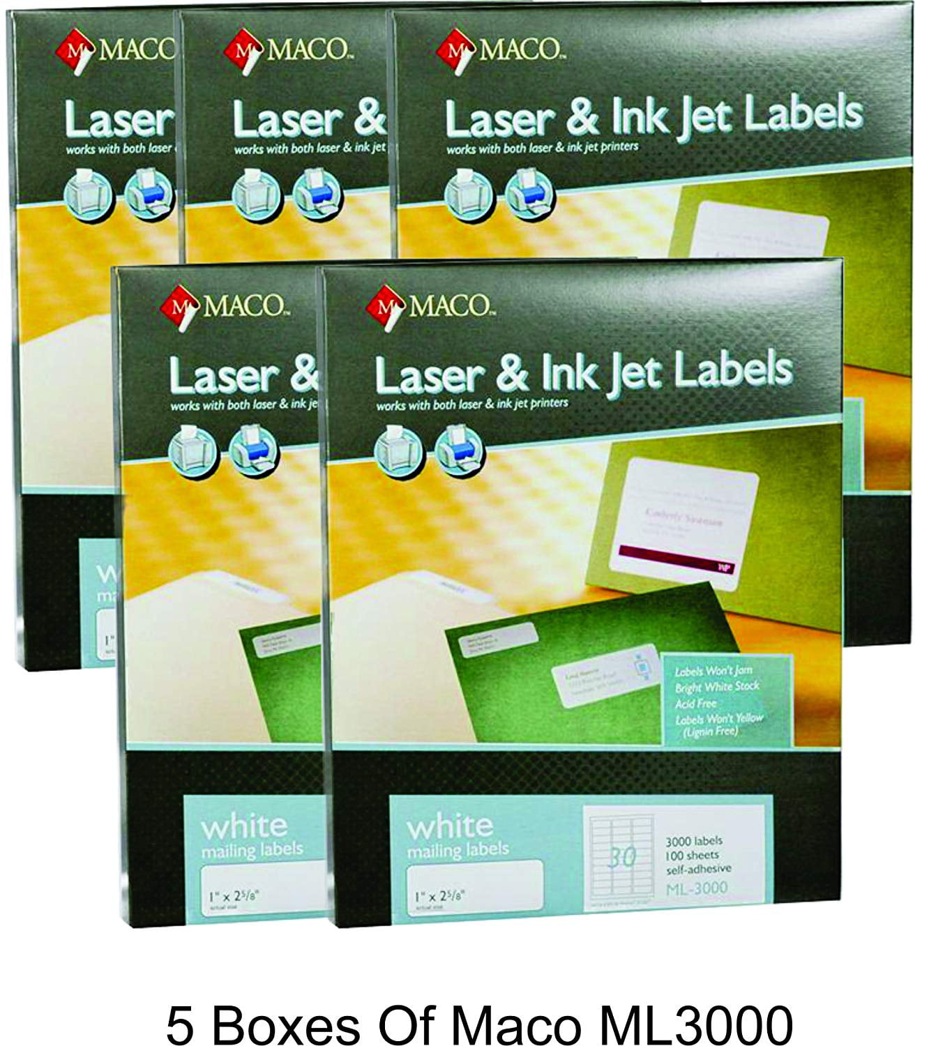 It is a picture of Fabulous Maco Labels 30 Per Sheet