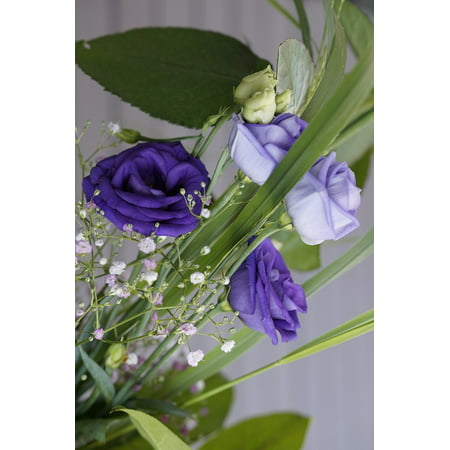 - LAMINATED POSTER Bloom Bouquet Blossom Flower Festive Purple Poster Print 24 x 36