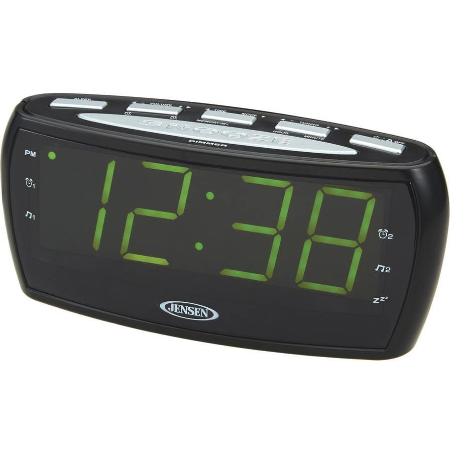 JENSEN JCR-208 AM FM Alarm Clock Radio by Jensen