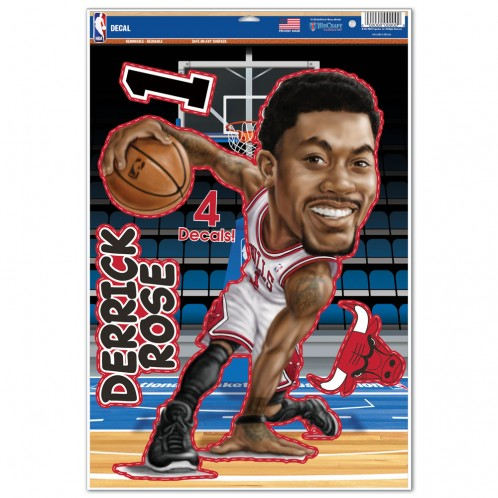 Chicago Bulls Derrick Rose Caricature 11x17 Multi Use Decal by Wincraft, Inc.