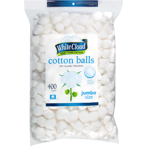 White Cloud Jumbo Size Cotton Balls, 400 count