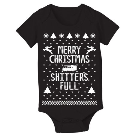 Merry Sh*Tters Full Baby New Born Black Baby One Piece (Teen Onsie)