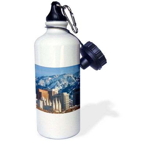 3Drose Wasatch Mountains  Salt Lake City Skyline  Utah Usa   Us45 Bjn0000   Brian Jannsen  Sports Water Bottle  21Oz