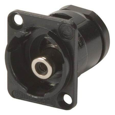 Switchcraft EHRCA2BX RCA Feedthru Jack Connector Black w/4-40 Screw