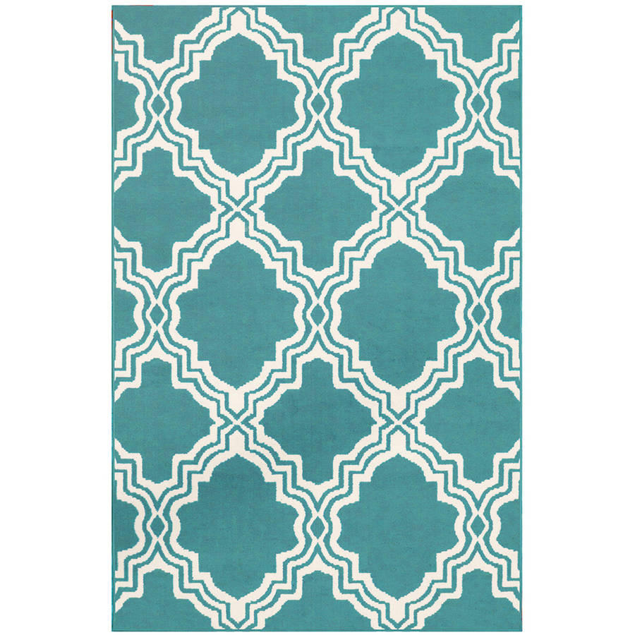 Mainstays Fancy Fret Area Rug, Teal