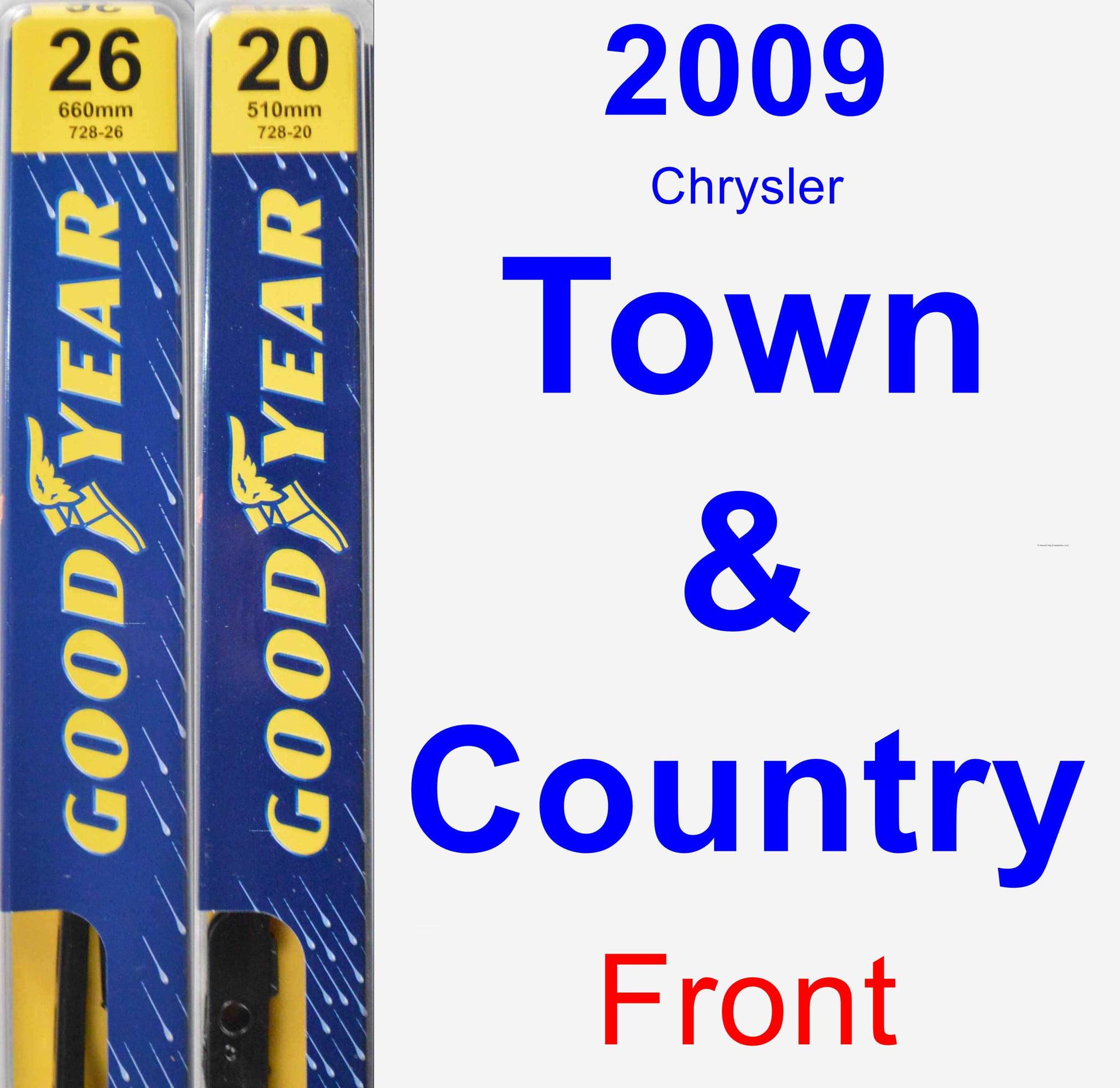 2009 Chrysler Town ; Country Wiper Blade Set/Kit (Front) (2 Blades) - Premium 728