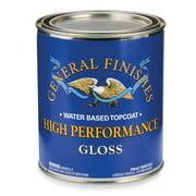 General Finishes, High Performance Polyurethane Topcoat, Gloss, Quart