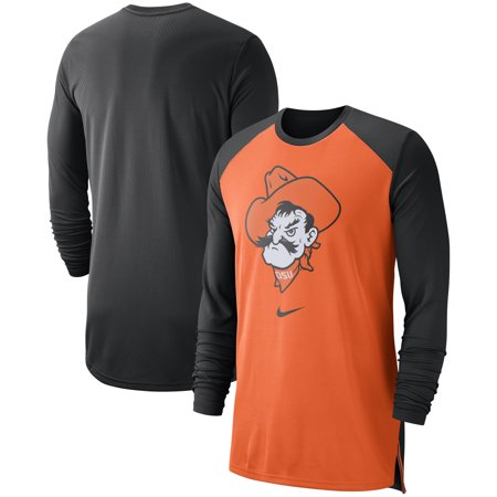 Oklahoma State Cowboys Nike On-Court Basketball Elite Performance Long Sleeve T-Shirt - Orange