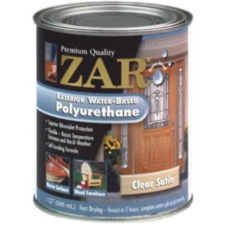 Zar qt amber exterior water based polyurethane is a rich for Zar exterior water based polyurethane