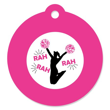 We've Got Spirit - Cheerleading - Birthday Party or Cheerleader Party Favor Gift Tags (Set of 20)