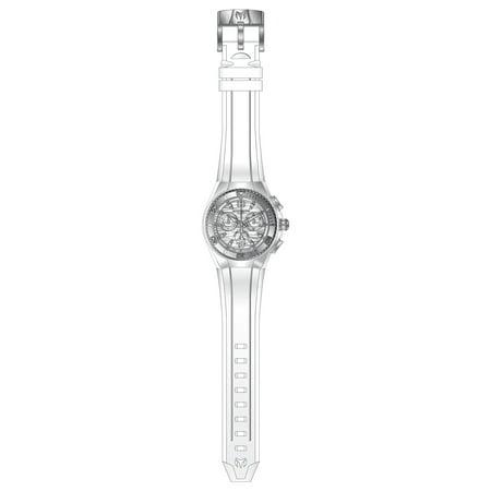 Technomarine TM-115050 Unisex Cruise Original Silver Dial White Strap Chronograph Dive Watch