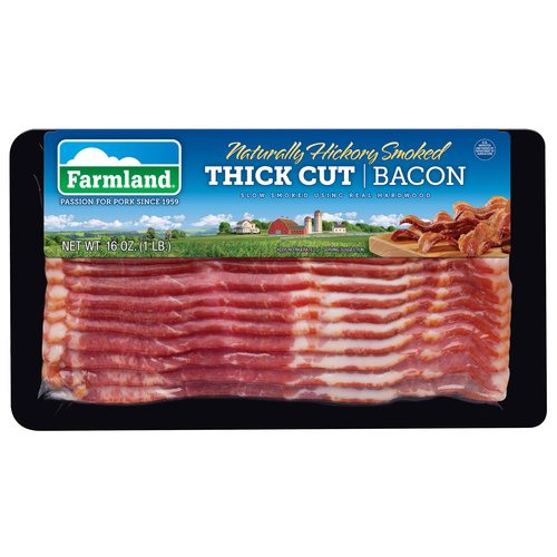 Farmland Naturally Hickory Smoked Thick Cut Bacon, 16 oz
