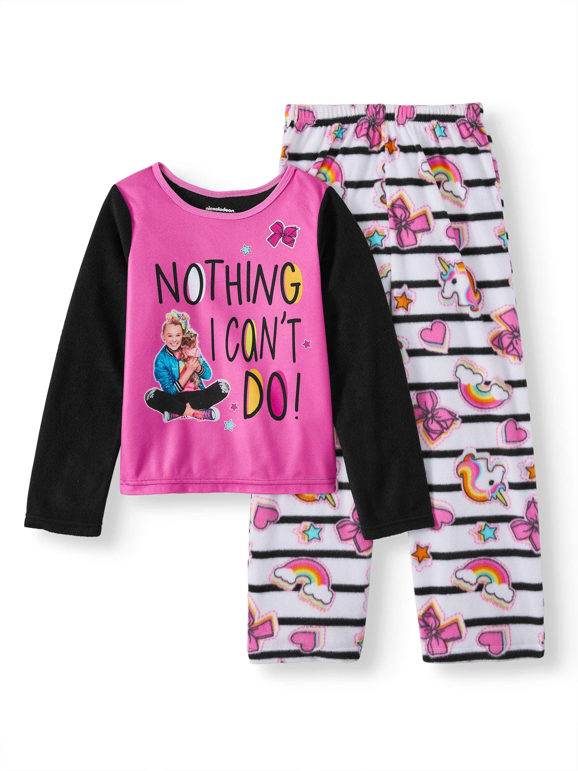 XS 4//5 Little Girls /& Big Girls Peppa Pig Sporty Long Sleeve 2pc Sleep Set