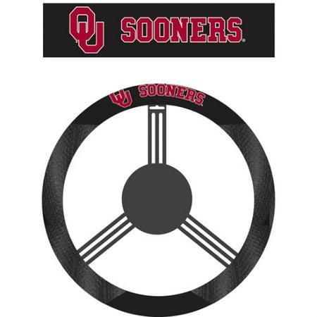 - NCAA Oklahoma Sooners Poly-Suede Steering Wheel Cover