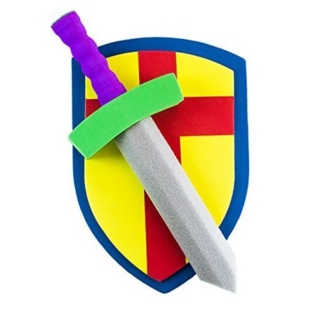 Children's Foam Toy Medieval Joust Sword & Shield Knight Set Lightweight Safe Toys Party Supplies by Super Z Outlet - Birthday Party Activities