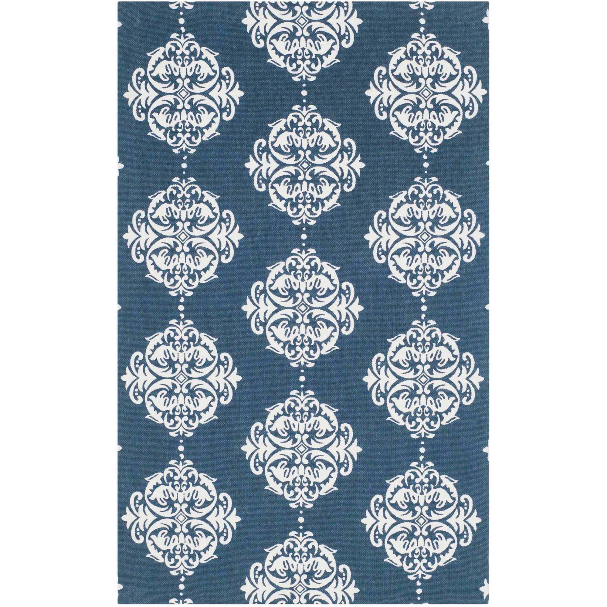 Safavieh Cedar Brook Hildred Hand Loomed Cotton Area Rug, Navy/Ivory