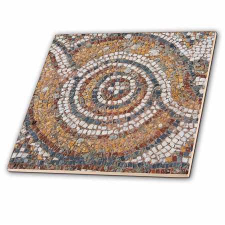 - 3dRose Turkey, Kusadasi, Ephesus. Detail of ancient floor mosaic. - Glass Tile, 6-inch