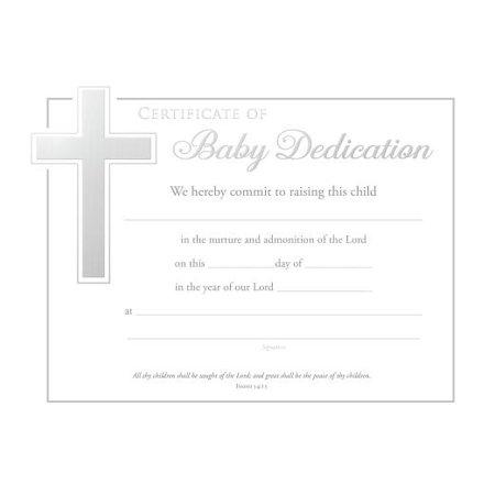 1934 Silver Certificate - Baby Dedication Certificate