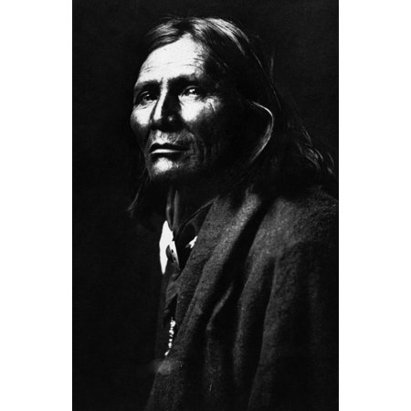 Apache Man 1906 Nalchise An Apache Native American Man Photographed By Edward S Curtis 1906 Rolled Canvas Art     18 X 24