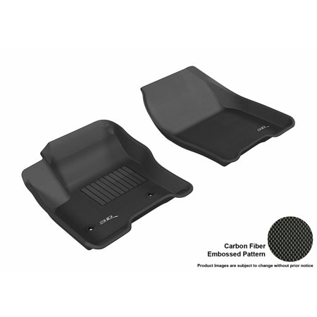 3D MAXpider 2013-2015 Ford C-Max/Escape Front Row All Weather Floor Liners in Black with Carbon Fiber Look