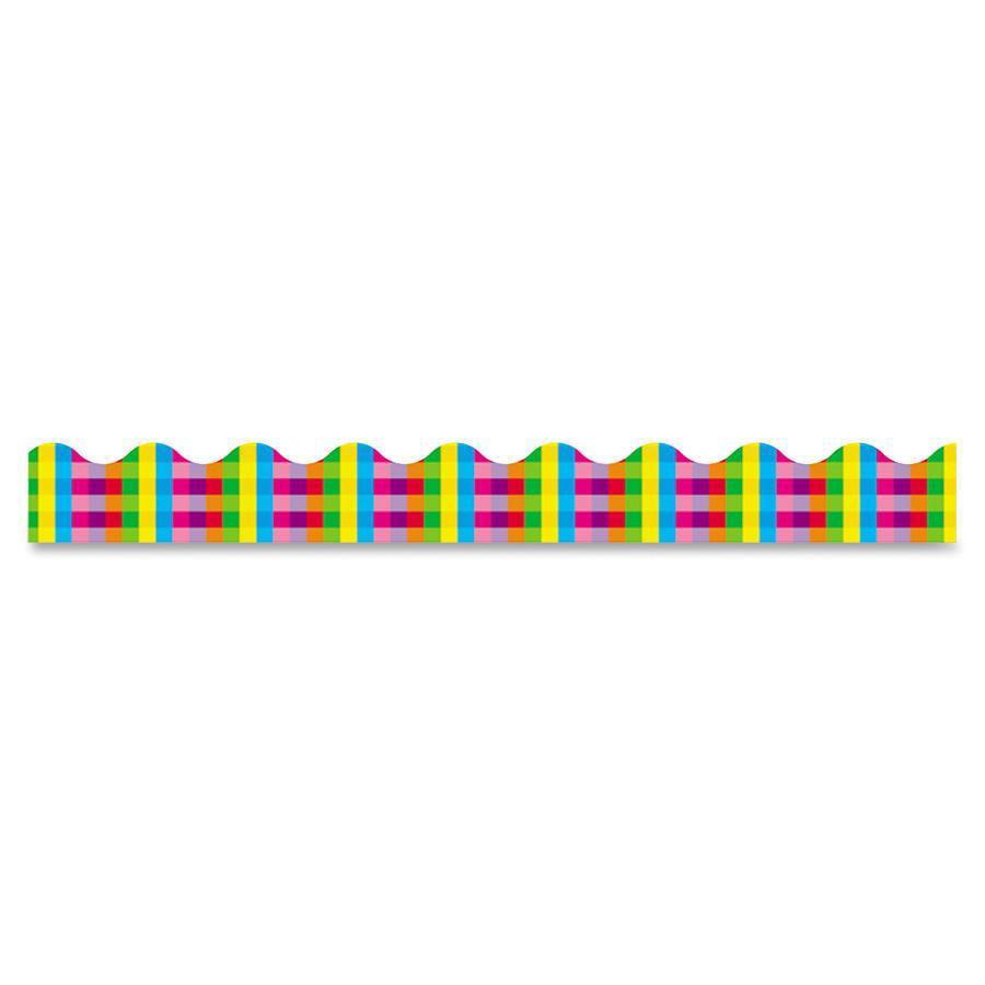 Trend Rainbow Plaid Terrific Trimmers, Multicolor, 1 Pack (Quantity)