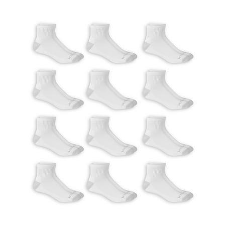 - Fruit of the Loom Dual Defense Men's Ankle Socks, 12 Pack, 6-12, White/Gray