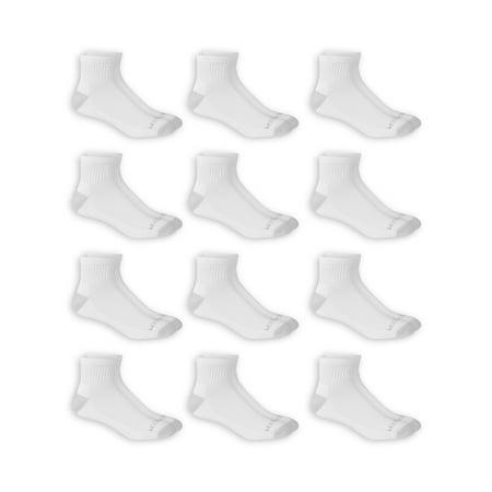 Fruit of the Loom Dual Defense Men's Ankle Socks, 12 Pack