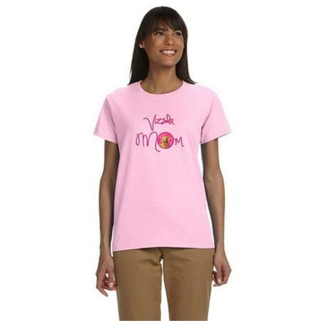 Carolines Treasures LH9370PK-978-L Pink Vizsla Mom T-Shirt Ladies Cut Short Sleeve, Large - image 1 de 1