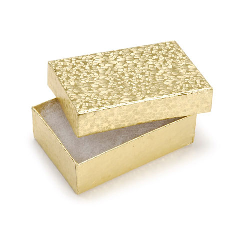 Jewelry Boxes - Gold - 3 x 2-1/8 x 1 inches - 6 pieces
