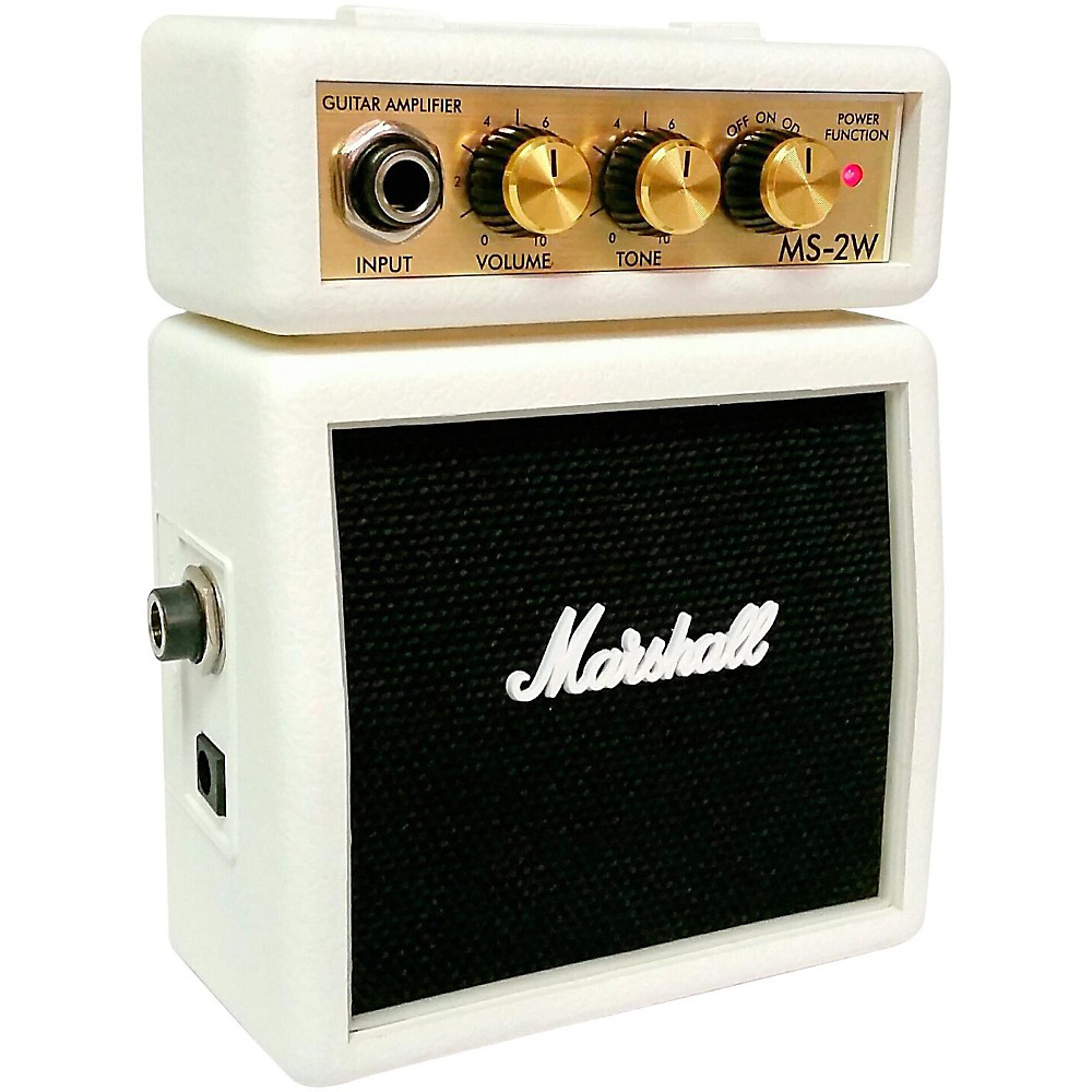 Marshall Limited Edition Ms 2w 1w Micro Guitar Amp White How To Build Mini Box Amplifier