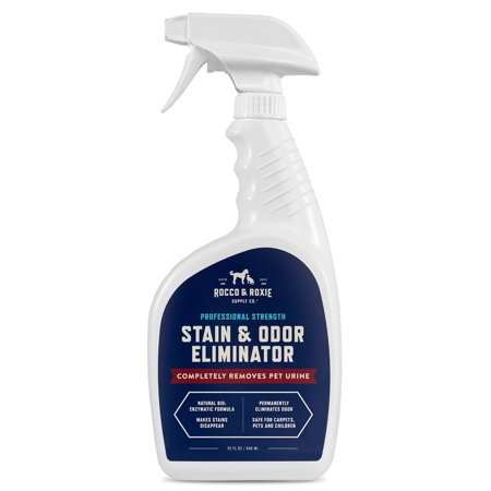 Rocco & Roxie Professional Strength Stain & Odor Eliminator - Enzyme-Powered Pet Odor & Stain Remover for Dog and Cats