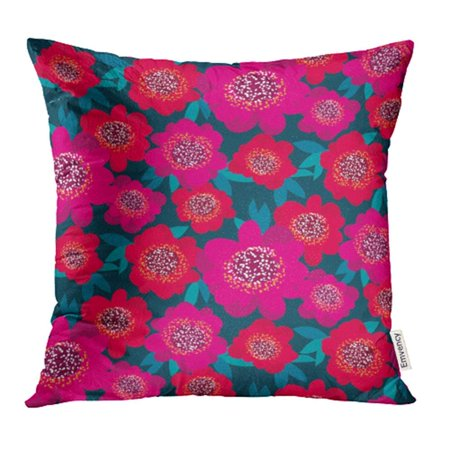 ARHOME Bold Bright Pink Red Camellia Flowers Floral Repeatable Plant Bouquet Naive Pillowcase Cushion Cases 18x18 -