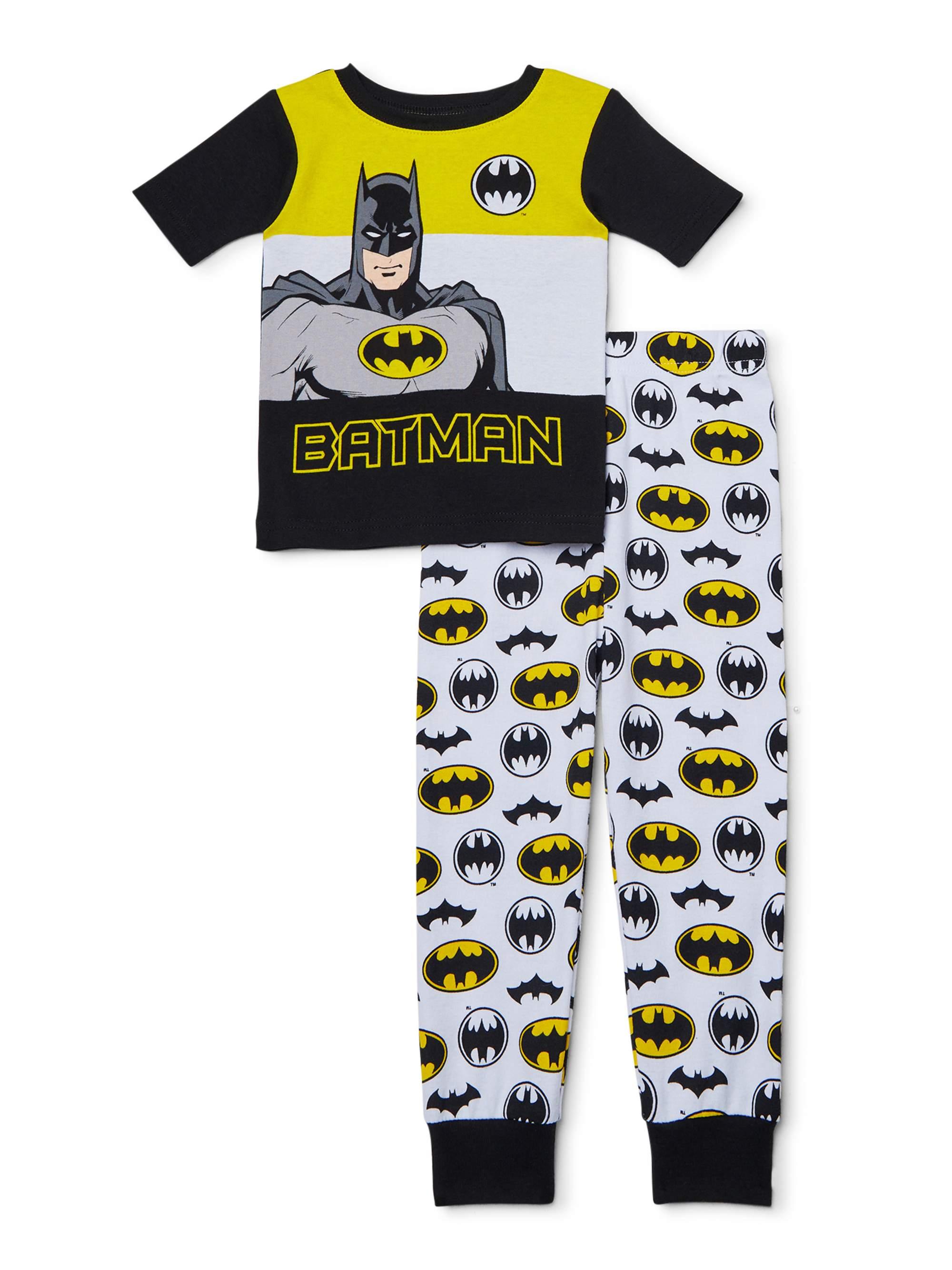BATMAN DC Basic Fleece Pajamas Sleepwear Set NWT Toddler/'s Size 2T 4T or 5T 3T
