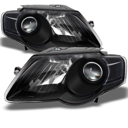 Fit 2006-2010 Passat Black Headlights Left+Right 06 07 08 09 10 Lights Lamps