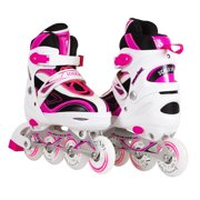 Kids/Teen Adjustable Inline Skates for Girls and Boys with Illuminating Front Wheel