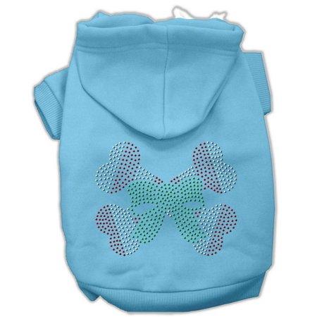 Candy Cane Crossbones Rhinestone Hoodie Baby Blue M (12)