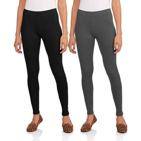 aa6a0a52bb0bf Faded Glory - Women's Essential Leggings, 2-Pack - Walmart.com