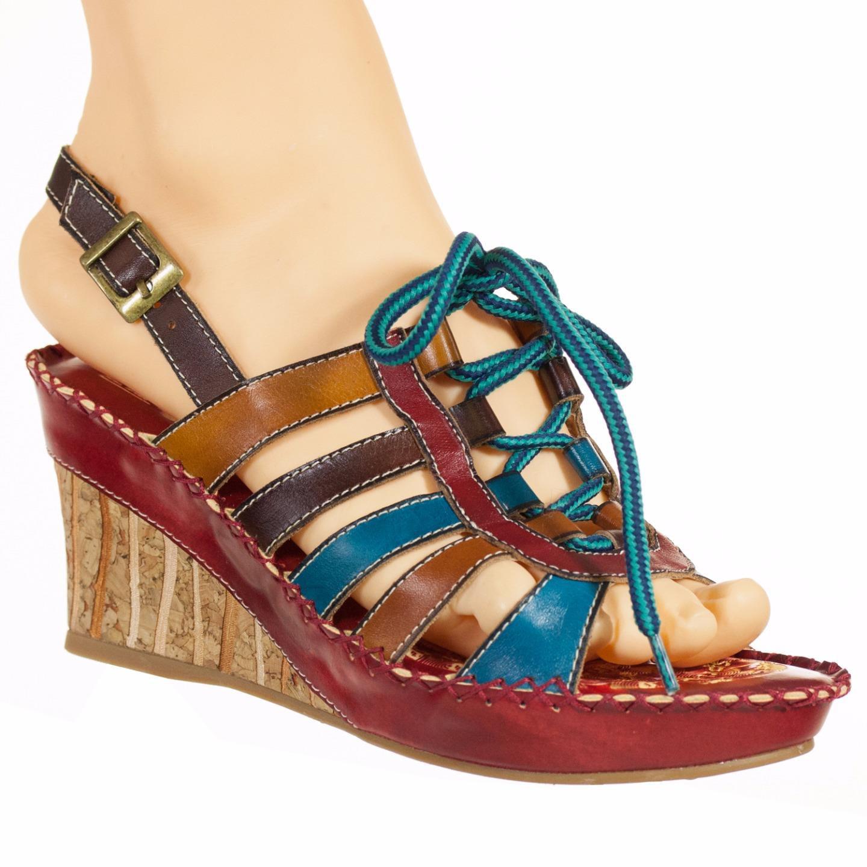 Spring Step L'Artiste Collection Guzel Women's Sandals Red Multi EU 37 US 7 by Spring Step