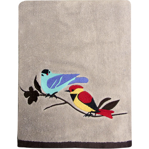 Mainstays Birds in Nature Decorative Bath Towel Collection
