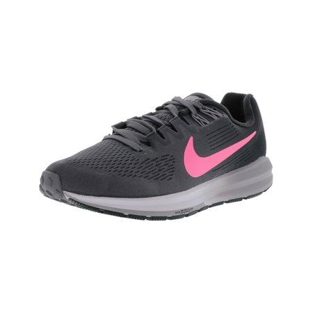 Nike Women's Air Zoom Structure 21 Gunsmoke / Sunset Pulse Ankle-High Mesh Running Shoe - 9.5M