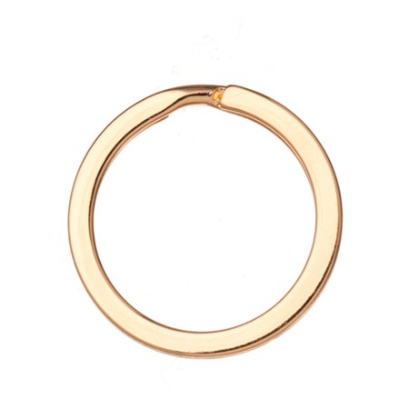 28mm Flat Round Gold Finished Steel Split Ring pack of 10 (2-Pack Value Bundle), SAVE $1