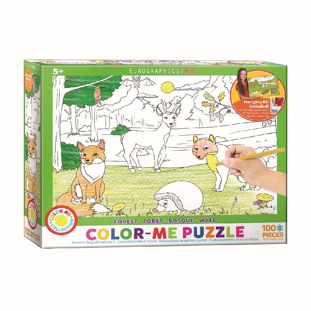Color Me Forest 100 Piece Puzzle