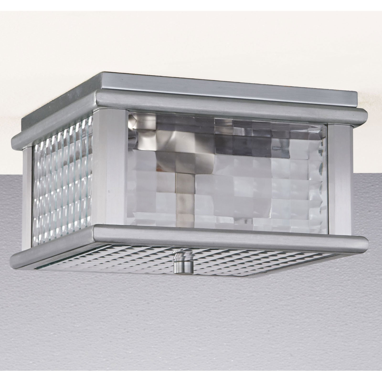 Feiss Monterey Coast Outdoor Ceiling Light - 5.5H in. Brushed Aluminum