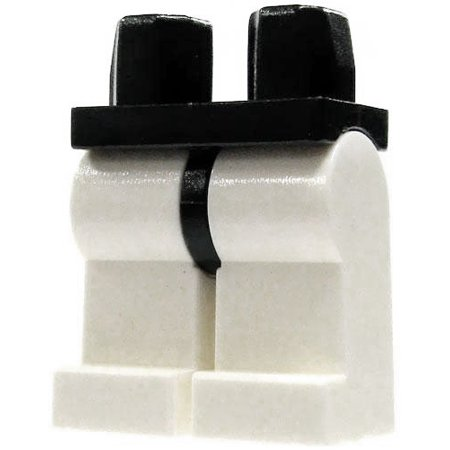LEGO Star Wars Black Hips with White Legs Loose Legs - Leg Wars
