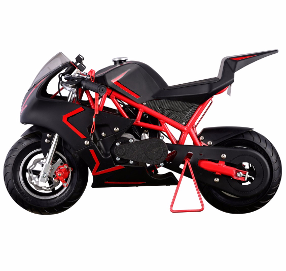 40CC 4 Stroke GAS Pocket Bike MINI Motorcycle EPA, Red